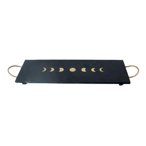 Tray Long Slate and Brass Tray