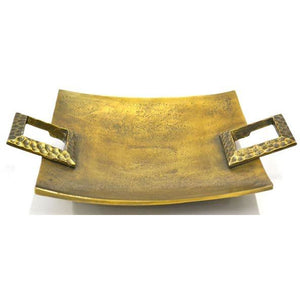 Tray / Bowl Metal Brass Antique Finish