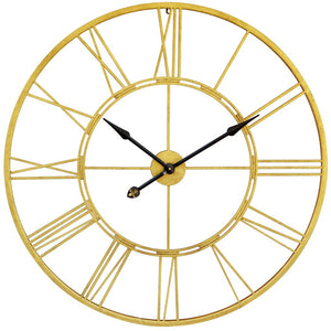Clock Wall Roman Numeral - Gold (XL)