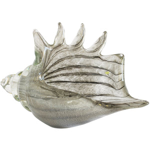Paperweight Glass Conch Shell Zebra