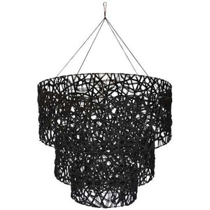 Chandelier Spaghetti 3 Tier Black - X. LRG