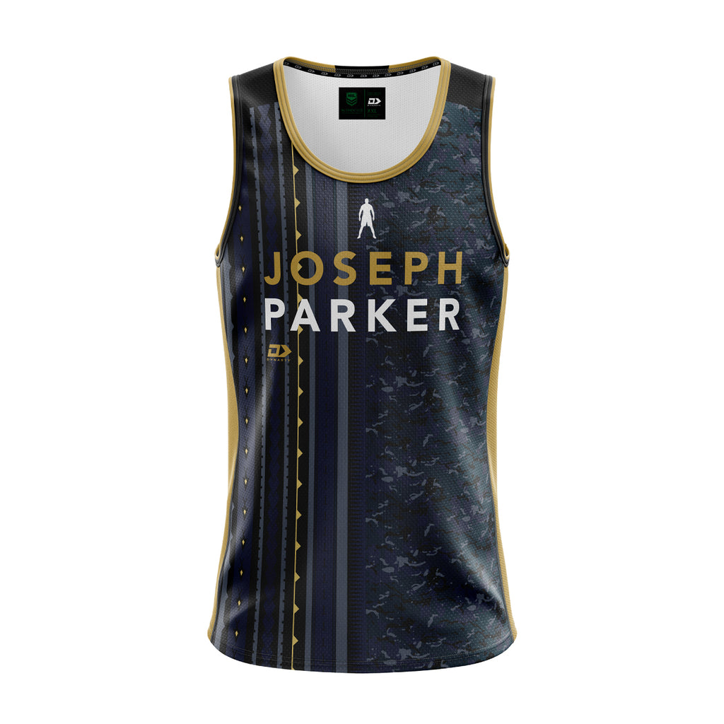 Joseph Parker Black Gold Camo Training Singlet