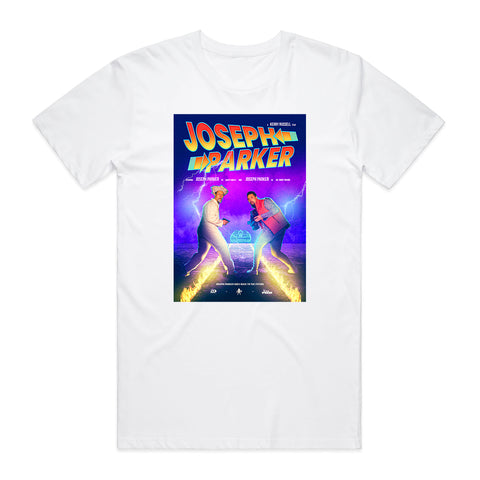 Joseph Parker Back to the Future White Graphic Tee