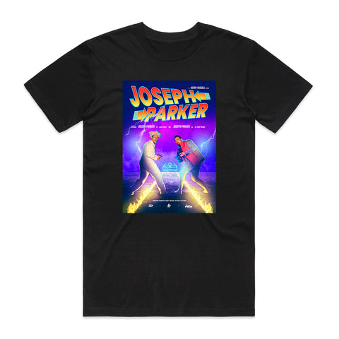 Joseph Parker Back to the Future Black Graphic Tee