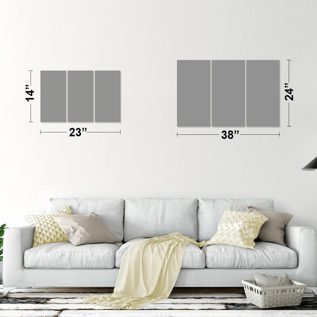 Watercolor USA Multi Panel Canvas Wall Art
