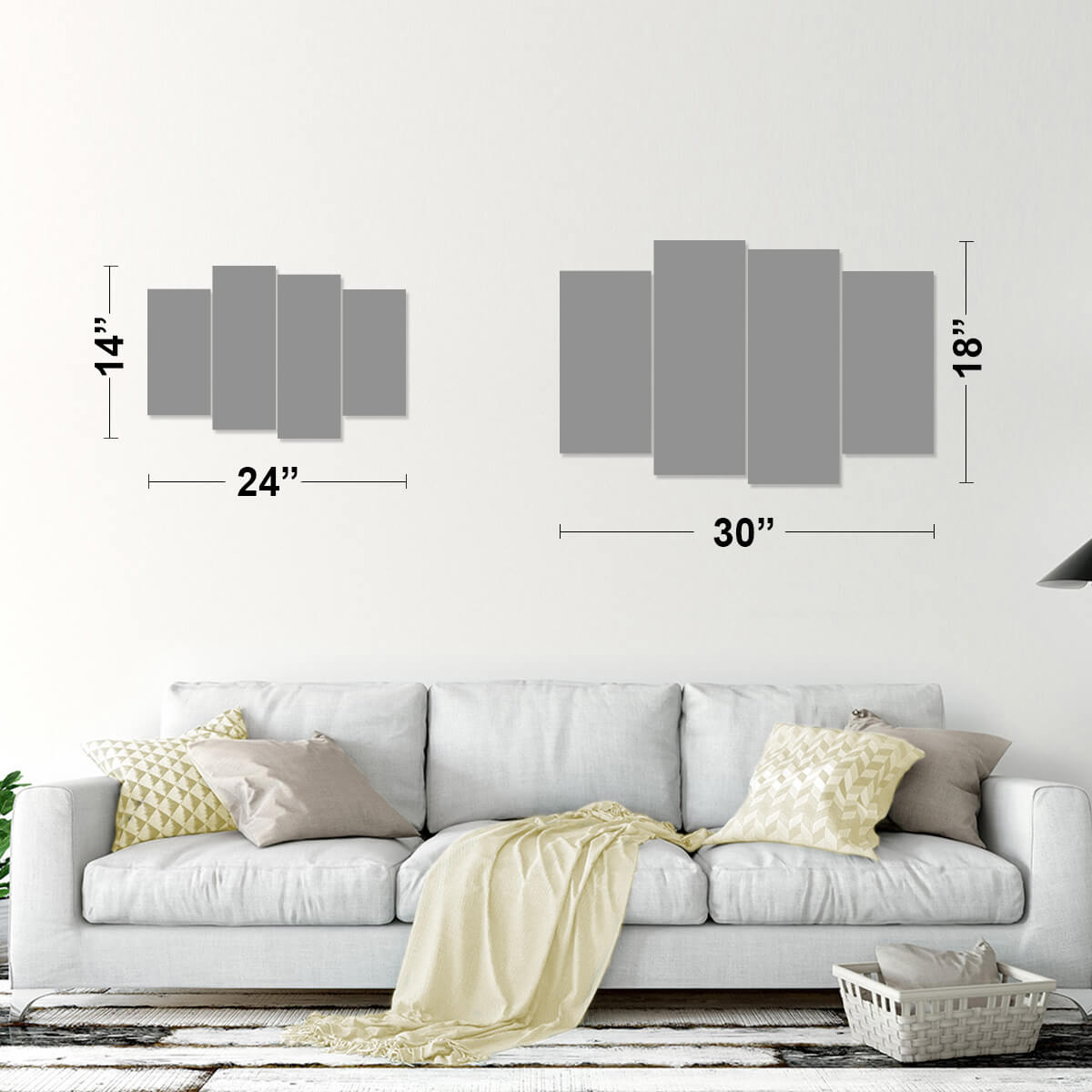 Deluxe Multi Panel Canvas Wall Art