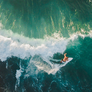 Aerial - Surfing Canvas Wall Art Sub Collection