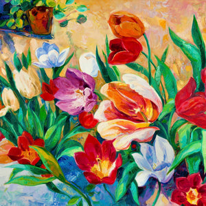 Floral Paintings - Floral-and-botanical Canvas Wall Art Sub Collection