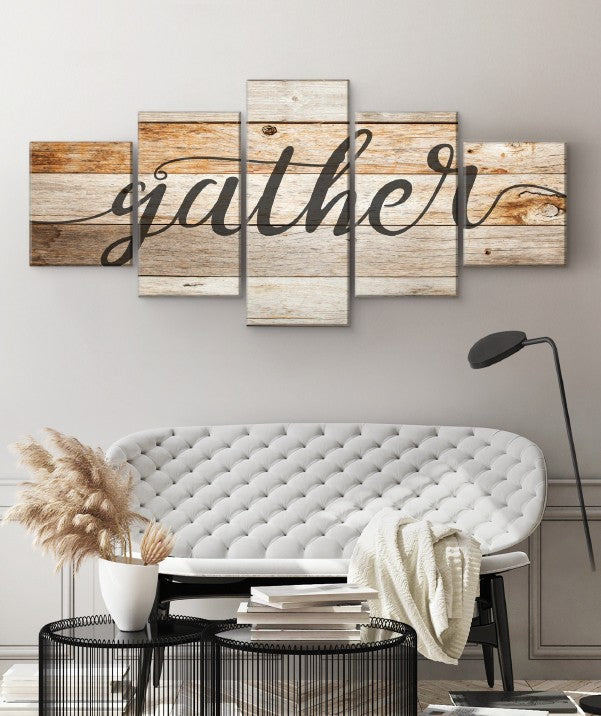 Gather multi panel canvas