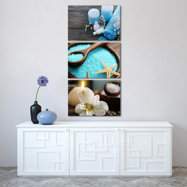 Spa Day Multi Panel Canvas Wall Art