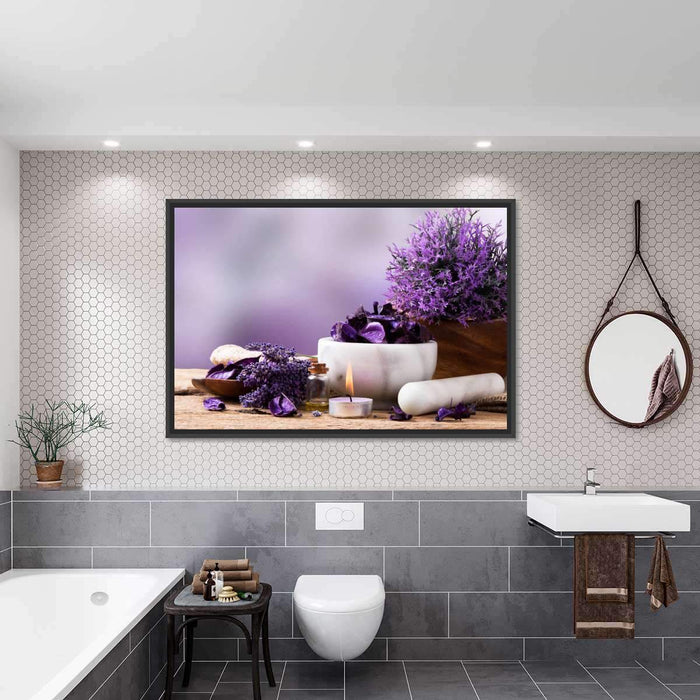 Calming Lavender Multi Panel Canvas Wall Art