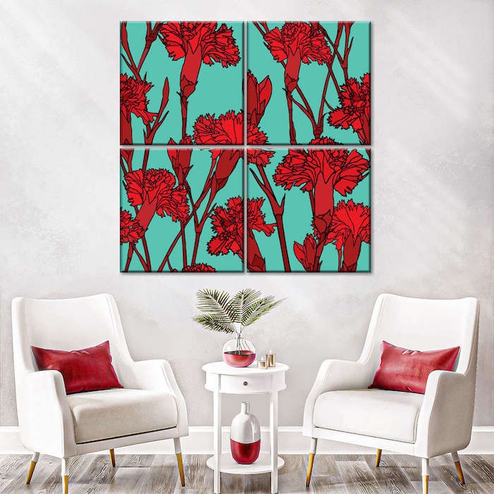 red color painting