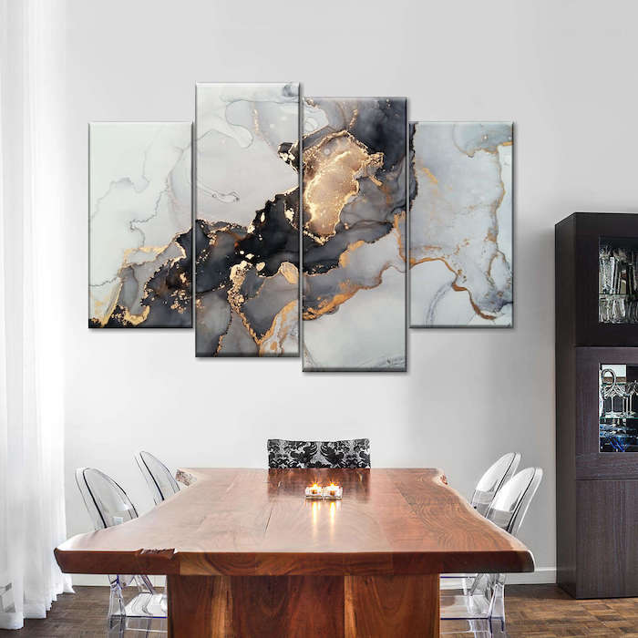 modern painting for dining room