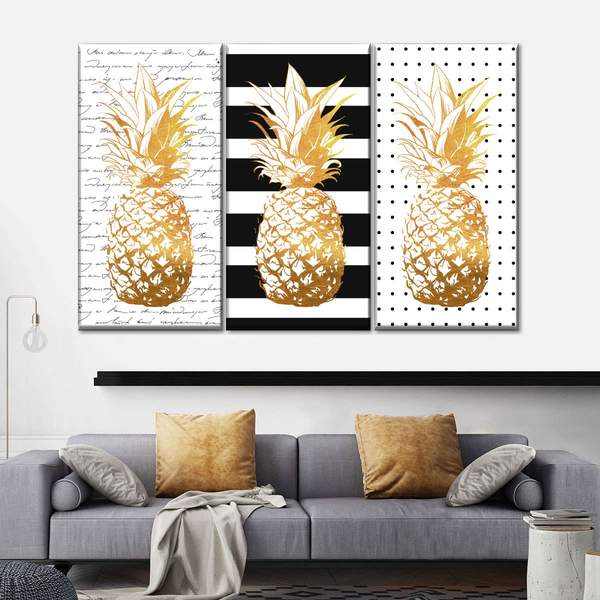 Pineapple Passion Canvas Set Wall Art