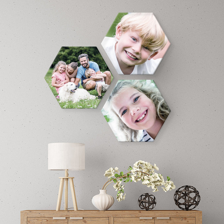 Custom Hexagon Canvas Photo Prints