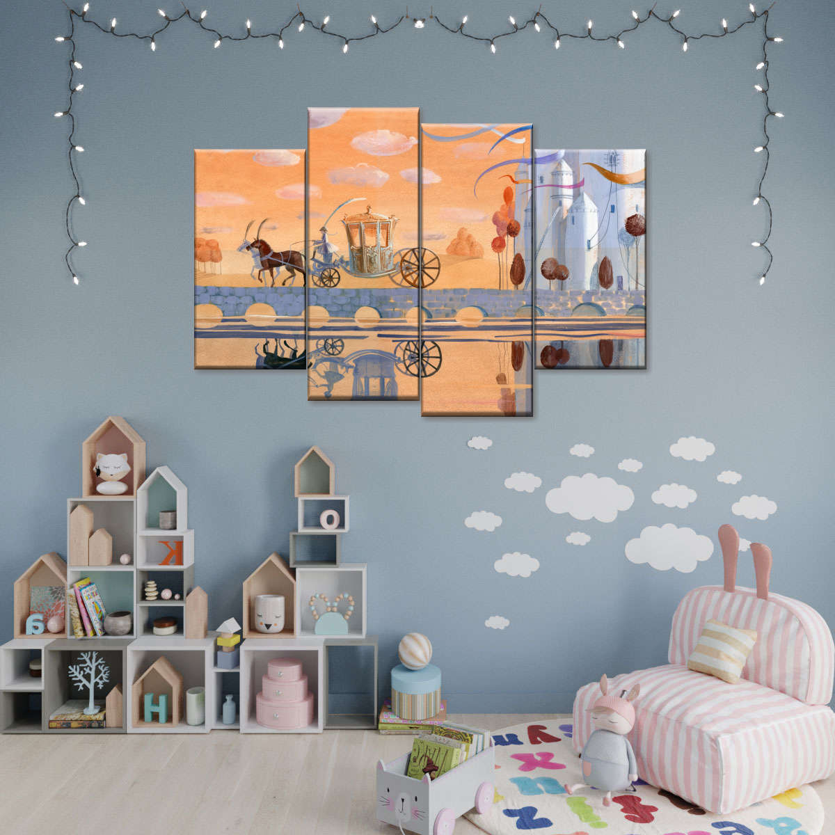 The Snow Queen III Multi Panel Canvas Wall Art