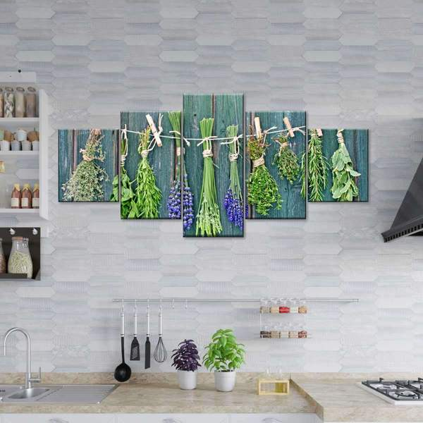 Drying Herbs Multi Panel Canvas Wall Art