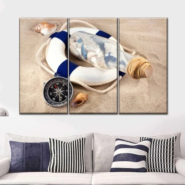 Message From A Sailor Multi Panel Canvas Wall Art