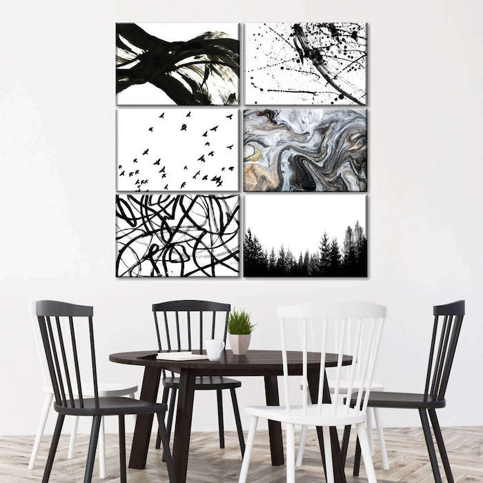 large painting for dining room