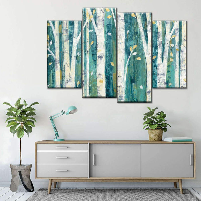 Birches in Spring Multi Panel Canvas Wall Art by Julia Purinton