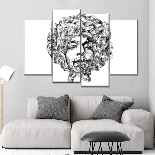 Jimi Hendrix Vapour Multi Panel Canvas Wall Art by Octavian Mielu