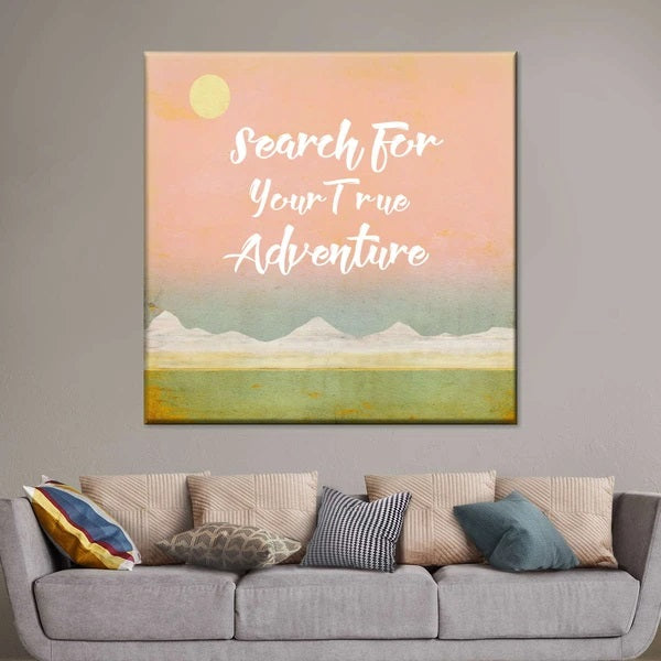 Search For Your True Adventure Multi Panel Canvas Wall Art
