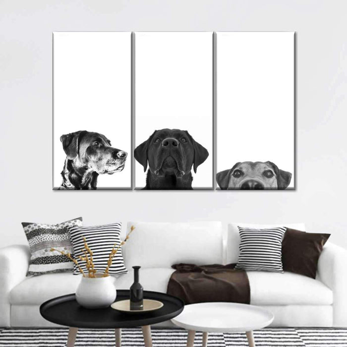 Adorable Pups Multi Panel Canvas Wall Art