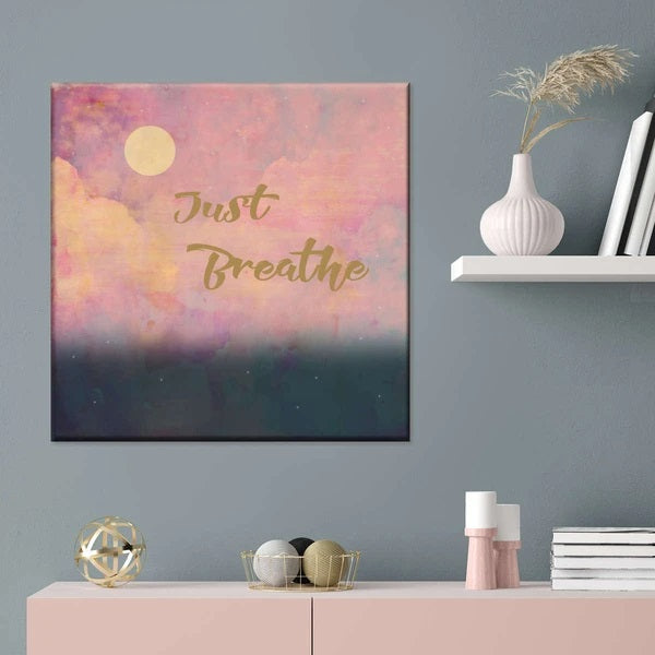 Just Breathe Multi Panel Canvas Wall Art