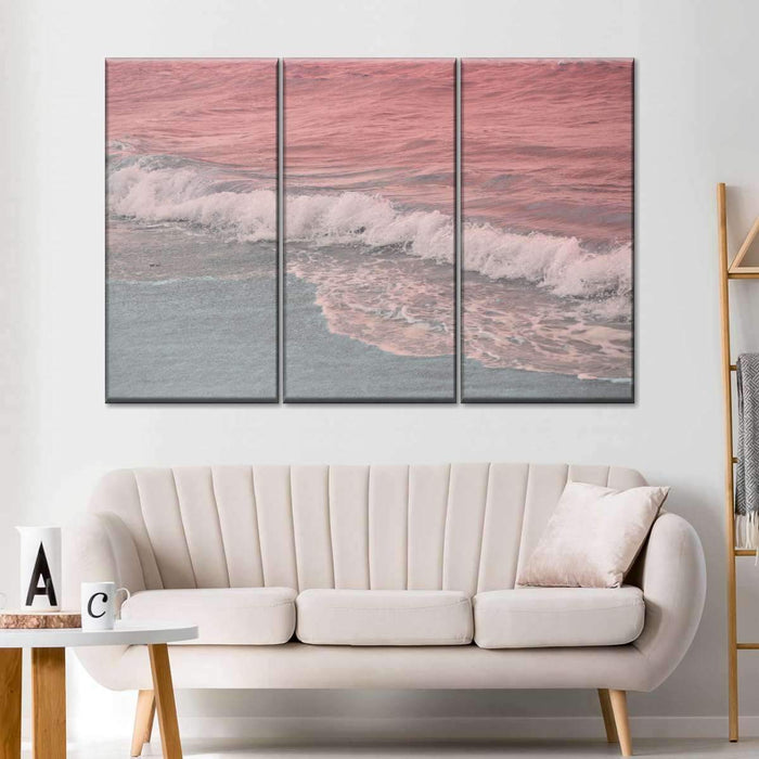 Pastel Ocean Multi Panel Canvas Wall Art