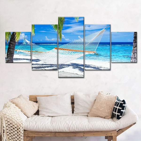 Caribbean Hammock Multi Panel Canvas Wall Art