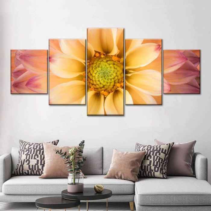 Dahlia Multi Panel Canvas Wall Art