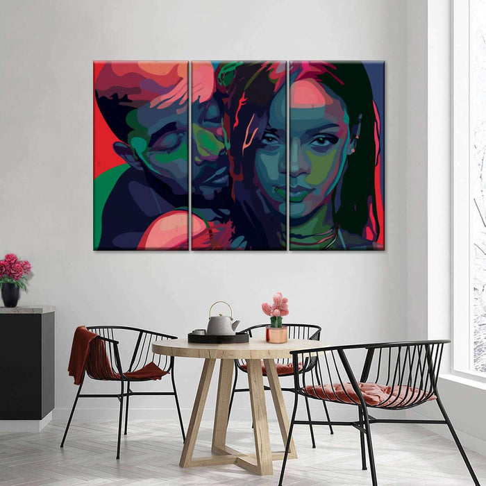 Drake Rihanna Design Remix Multi Panel Canvas Wall Art by Dai Chris