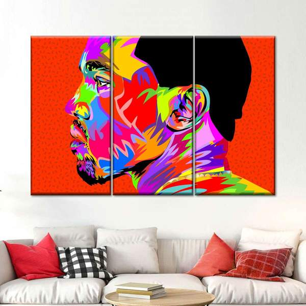 Kanye West II Multi Panel Canvas Wall Art by Technodrome1
