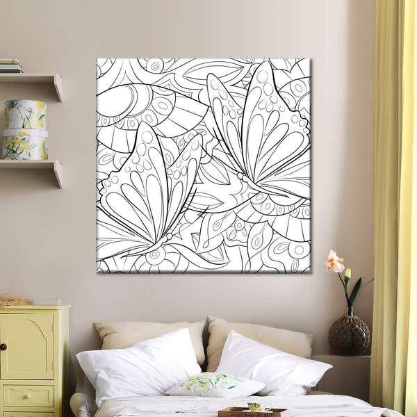 Butterfly Flock Multi Panel Canvas Wall Art