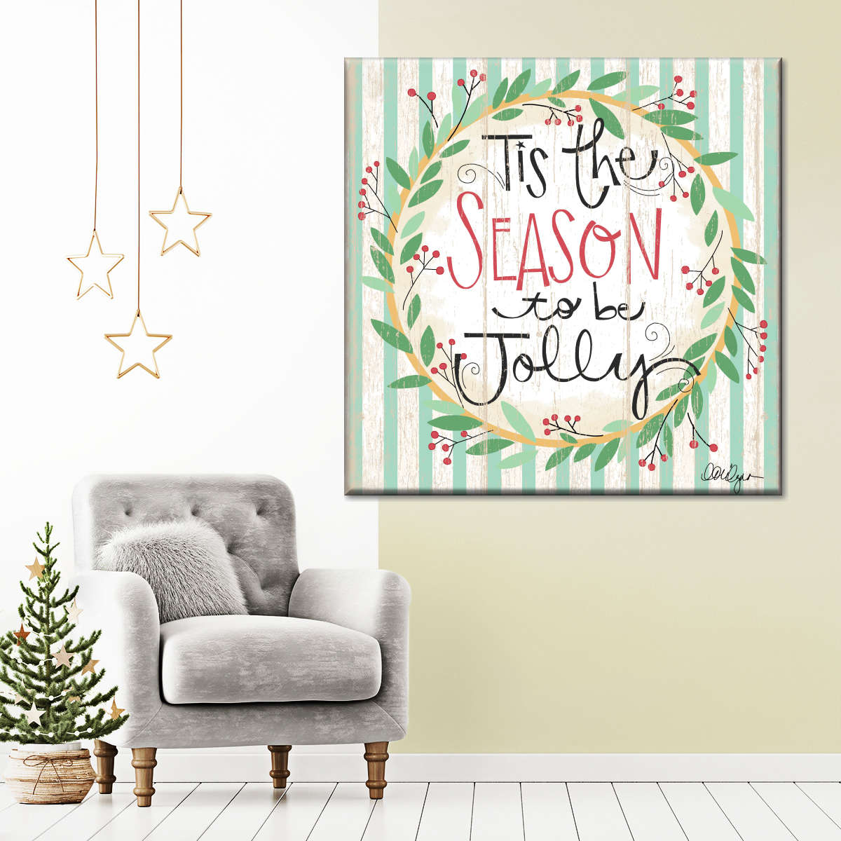 Season To Be Jolly Multi Panel Canvas Wall Art