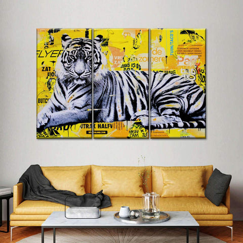 Tigerstyle Yellow Multi Panel Canvas Wall Art