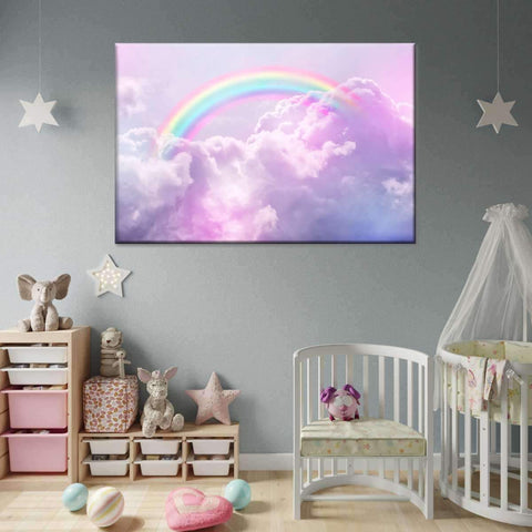 Cotton Candy Rainbow Multi Panel Canvas Wall Art