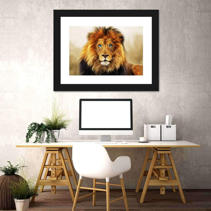 Blue Eyed Lion Multi Panel Canvas Wall Art