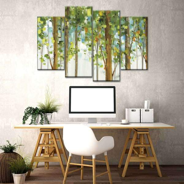 Forest Study I Crop Multi Panel Canvas Wall Art