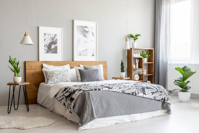 gray home decor bedroom