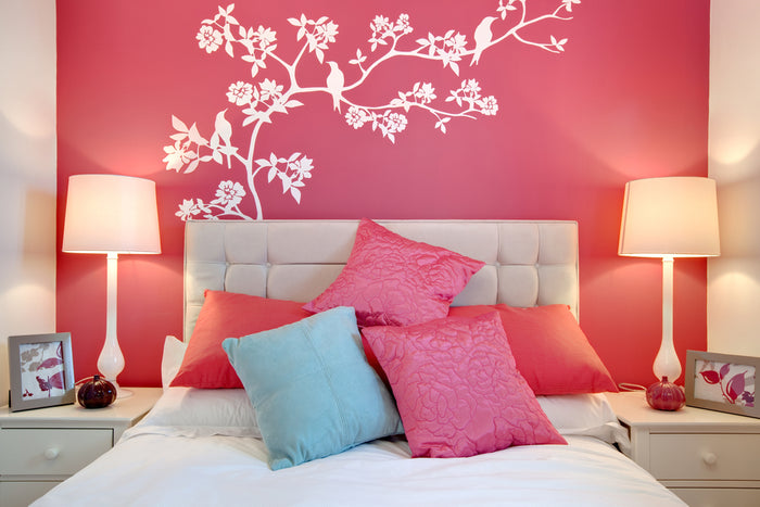 bedroom mural large wall ideas