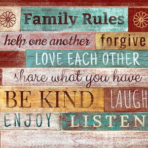Family - Typography-art Canvas Wall Art Sub Collection