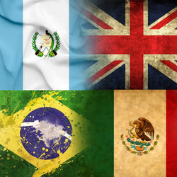 Flags Of The World - Flags Canvas Wall Art Sub Collection