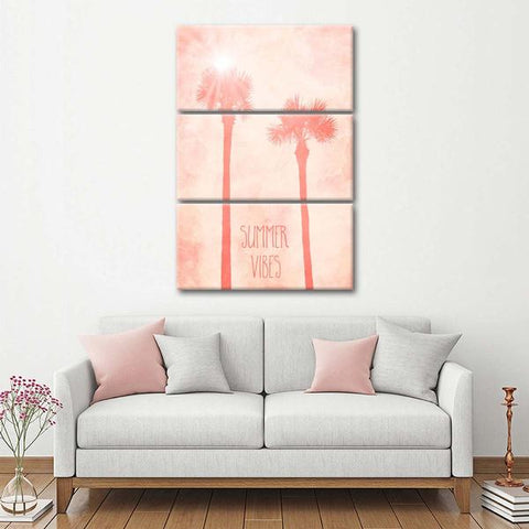 summer, vibes, palm trees, wall art, canvas, print