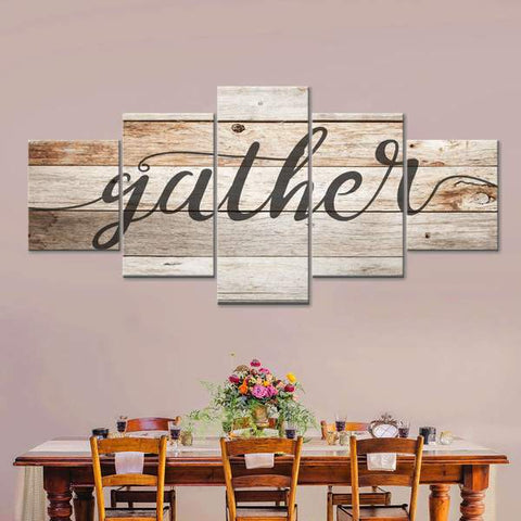 gather wall art thanksgiving