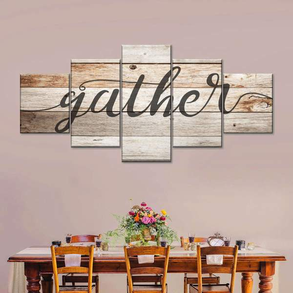Easter gather canvas wall art