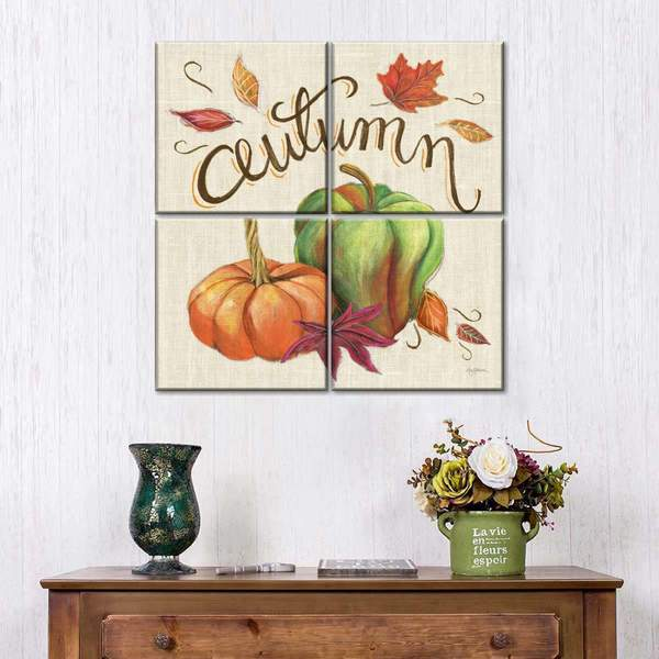 Autumn Harvest II Multi Panel Canvas Wall Art