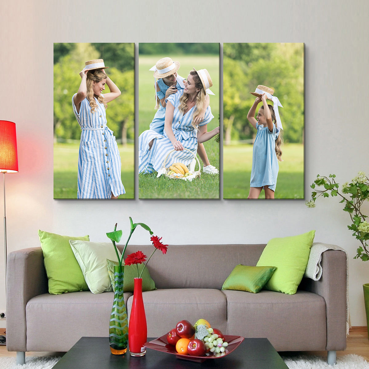 Wall Display Canvas Photo Prints - 3 Horizontal