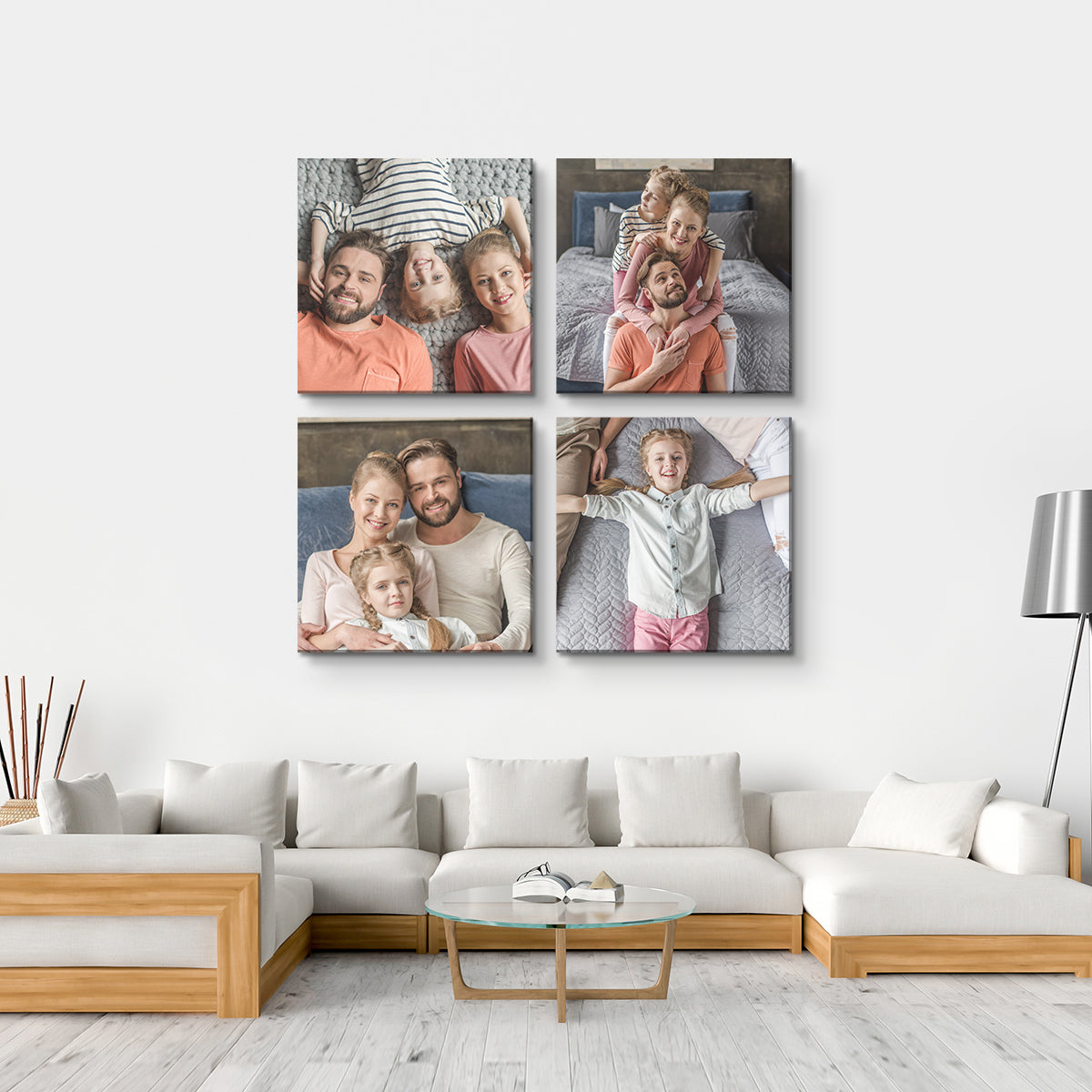 Wall Display Canvas Photo Prints - 4 Square