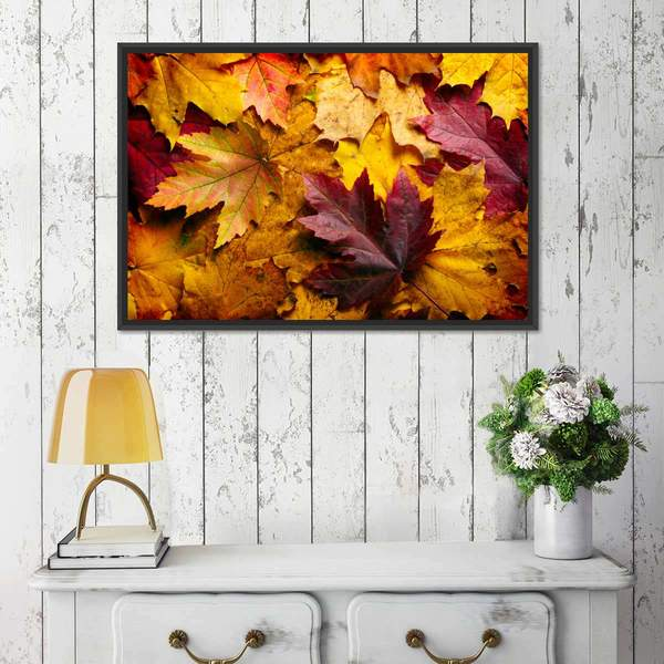 Autumn Fall Leaves Multi Panel Canvas Wall Art